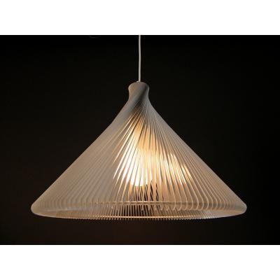 Exkluzív függesztett mennyezeti lámpa, széles, fehér  - RONDO WIDE